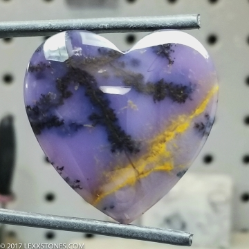 Amethyst Sage Agate Gemstone Cabochon Hand Crafted by LEXX STONES 70 Carats