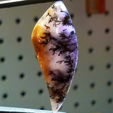 Amethyst Sage Agate Gemstone Cabochon Hand Crafted by LEXX STONES 55 Carats