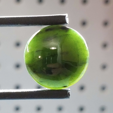 High Grade Cassiar Mountain BC Nephrite Jade Round Gemstone Cabochon Hand Crafted by LEXX STONES 16 Carats
