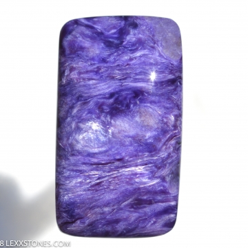 Rare High Grade Chatoyant Siberian Charoite Gemstone Cabochon Hand Crafted by LEXX STONES 30 Carats