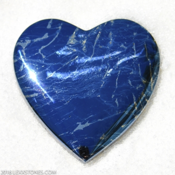 Rare High Grade Butte Iridescent Covellite Gemstone Heart Cabochon Hand Crafted By LEXX STONES 128 Carats