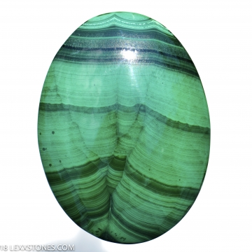 Vibrant Old Stock  Congo Malachite Oval Gemstone Cabochon Hand Crafted By Lexx Stones 85 Carats