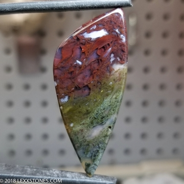 Festive Maury Mountain Oregon  Moss Agate  Gemstone Cabochon Hand Crafted By Lexx Stones 36 Carats