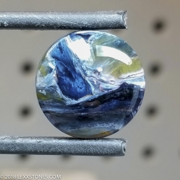 High Chatoyancy  Namibian Pietersite Round Gemstone Cabochon Hand Crafted By LEXX STONES 11 Carats