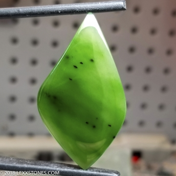 High Grade Siberian Nephrite Jade  Gemstone Cabochon Hand Crafted by LEXX STONES 35 Carats