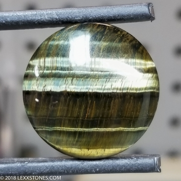 Natural Chatoyant Variegated Green Tiger Eye Gemstone Heart Cabochon Hand Crafted By LEXX STONES 20 Carats