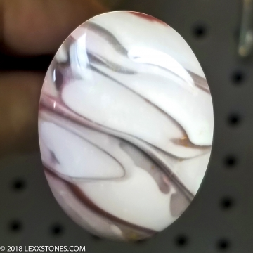 Swirly Willow Creek Porcelain Jasper Gemstone Cabochon Hand Crafted By LEXX STONES 56 Carats